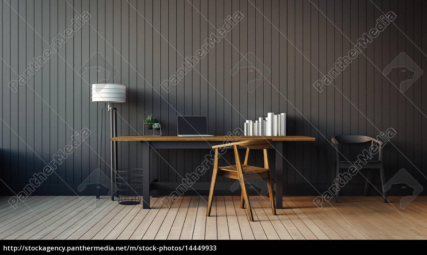 das, moderne, interieur, des, home-office - 14449933