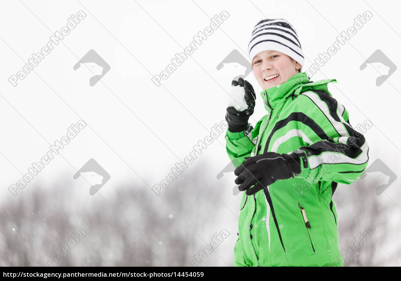 playful, young, boy, taking, aim, with - 14454059