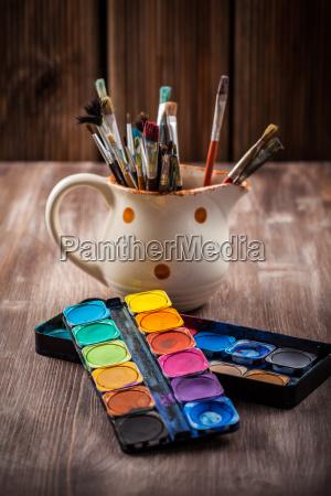 farben watercolors und buersten