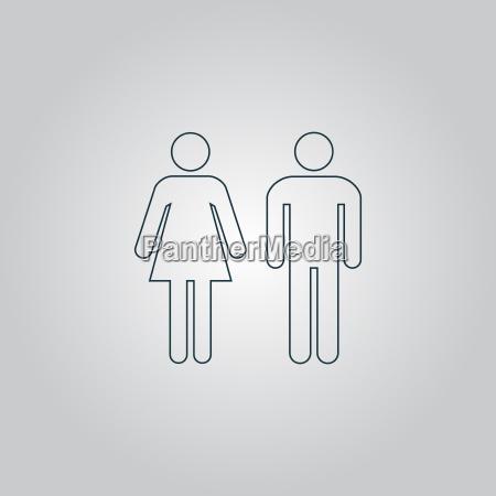 mann und frau symbole toilettenzeichen toilette
