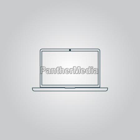 laptop symbol zeichen und button