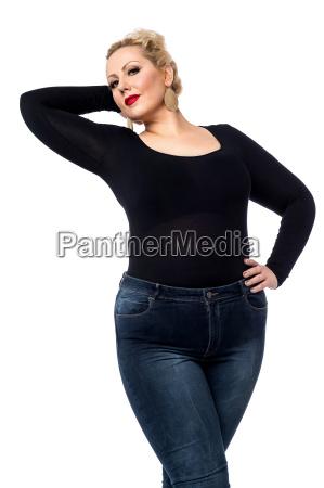 casual pose of pretty woman
