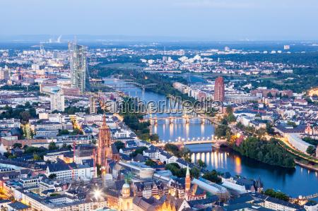 city of frankfurt main at night