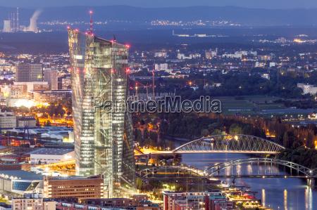 european central bank in frankfurt main