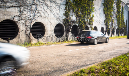 city traffic motion blurred image