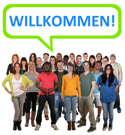 people group of young people with