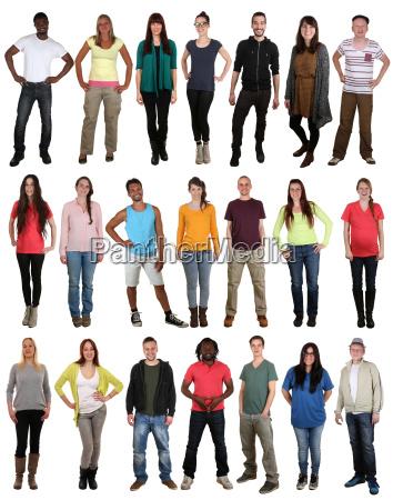 lachen gluecklich multikulturell junge people gruppe