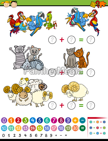 cartoon education math game