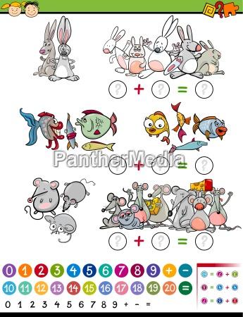 cartoon mathematical game