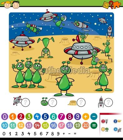 numbers game cartoon illustration