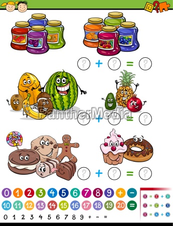 mathematical game cartoon illustration