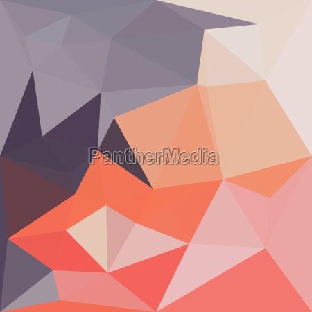 atomic tangerine orange abstract low polygon