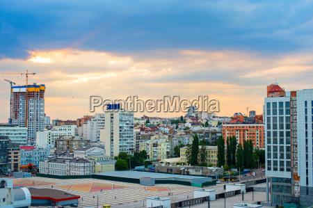 kiev downtown skyline ukraine