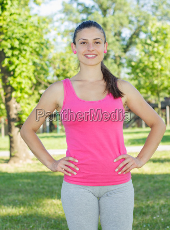 fitness sporty healthy lifestyle smiling