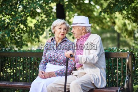 talking in park