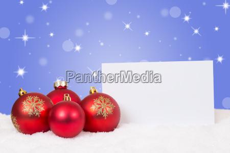 rote weihnachtskugeln weihnachten weihnachtskarte fuer wuensche