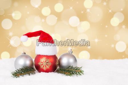 weihnachtskarte mit muetze weihnachten dekoration mit