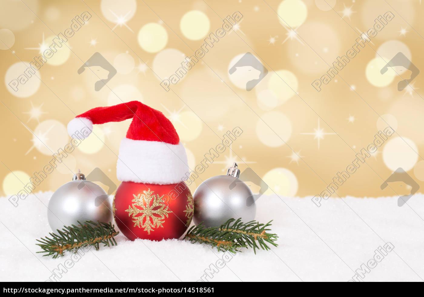 weihnachtskarte, mit, mütze, weihnachten, dekoration, mit - 14518561