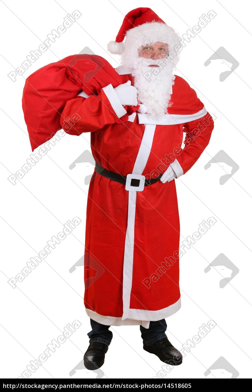 Weihnachtsgeschenke Sack.Stockfoto 14518605 Weihnachtsmann Nikolaus Mit Sack Für Geschenke An