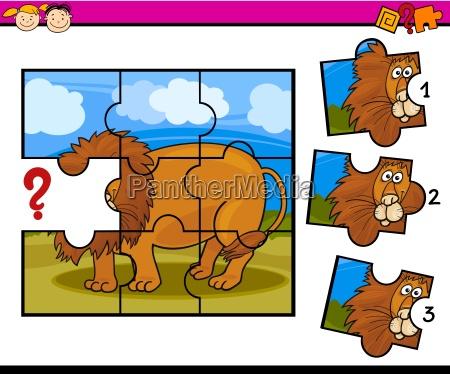 puzzle preschool cartoon game