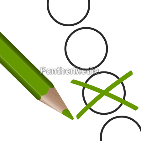 green pen with cross