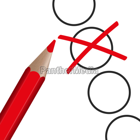 red pen with cross