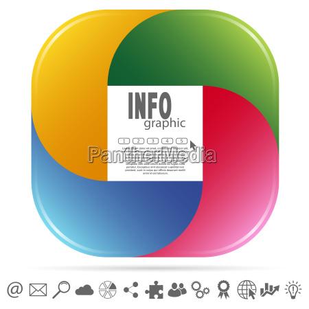 info graphic colored