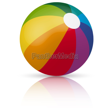 colored beach ball