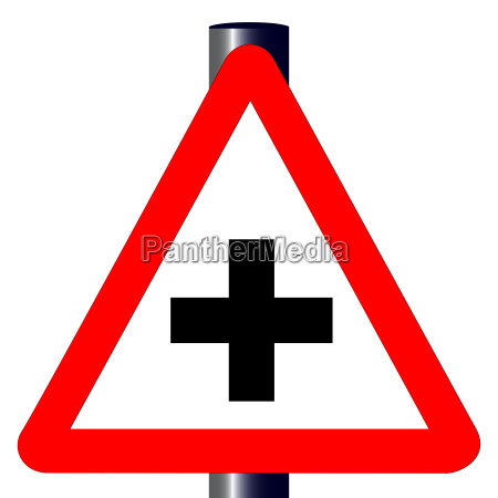 cross roads traffic sign