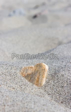 stone in heart shape in the