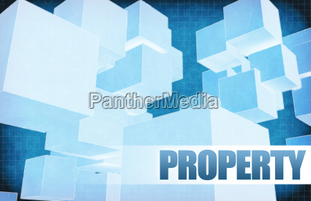 property on futuristic abstract
