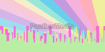 stadt skyline silhouette silhoutte schattenbild fruehe