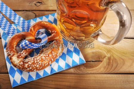 bavarian oktoberfestbreakfast with beer