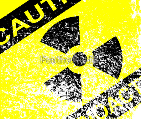 radioactive grunge sign