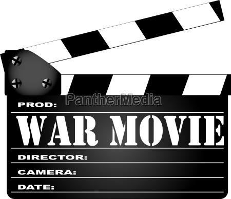 war film clapperboard