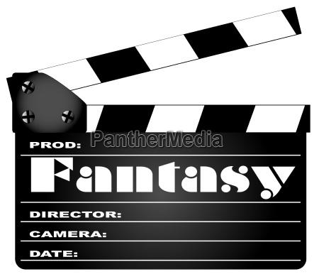 fantasy film clapperboard