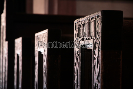 pews of the church of st