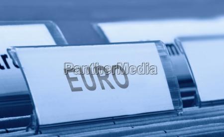 ordner mit euro reiter