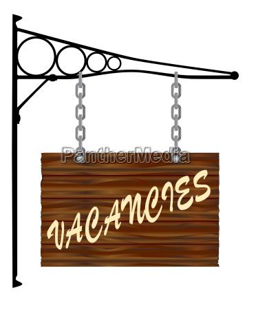 vacancies hanging sign