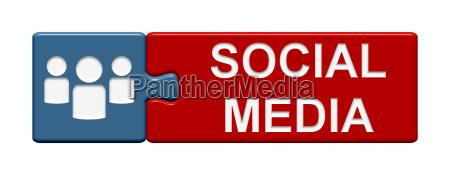 puzzle button social media