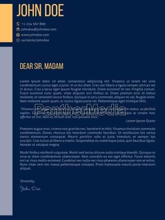 simplistic cover letter cv resume template