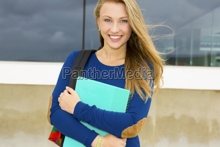 beautiful and happy student