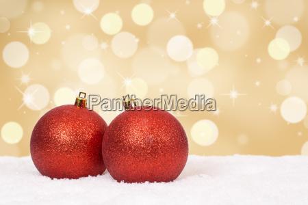 christmas balls christmas greetings card golden