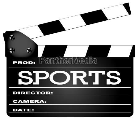 sport clapperboard