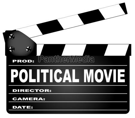 politische film clapperboard