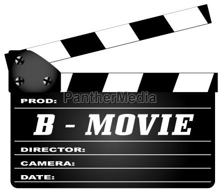 b film clapperboard