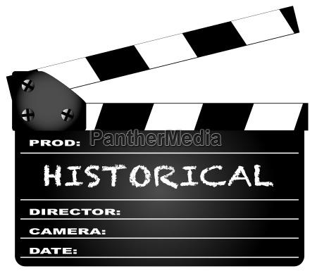 historische clapperboard
