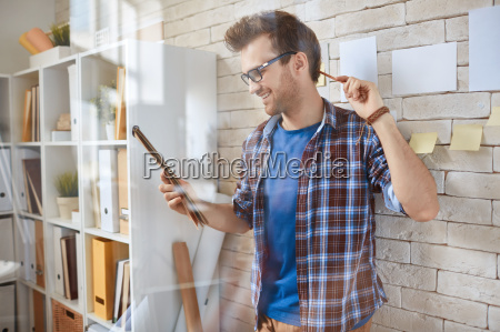 architect with notepad