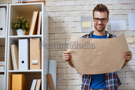 architect with paper