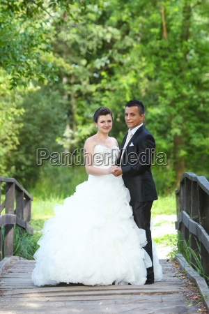 wedding photo in nature